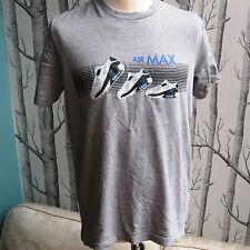 Nike Air Max 90 Zapatillas Gris Camiseta De Algodón Para hombres Talla M Mediano
