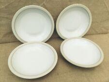 Denby Stoneware Linen Soup / Salad Bowls x 4