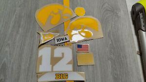 Iowa Hawkeyes full size football helmets 3M vinyl decals
