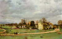 Oil painting Hans Thoma - Der Holzhausenpark in Frankfurt early spring landscape