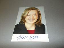 Kristina Schröder cdu política signed firmado en autógrafo autografiada mapa