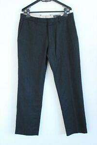BANANA REPUBLIC black tailored slim fit wool formal men trousers size W33 L32