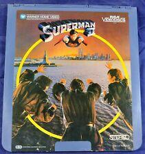 RCA VideoDisc CED - Superman II Vol. 1 & 2, 1981, Christopher Reeve - Warner