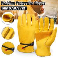 Heat Resistant Leather Heavy Duty Work Welder Welding Gloves Hand Protectio