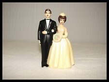 VINTAGE BRIDE & GROOM WEDDING CAKE TOPPER 60'S / 70's FAVOR IT BRAND 170-P RARE