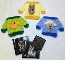 KNITTING PATTERN - Easter Jumper Mint Covers fits After Eight-Chick, Lamb, Bunny