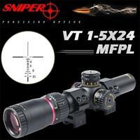 SNIPER VT1-5X24FPL First Focal Plane Precision Optics Scope with R/G CIRT