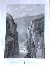 Valencia, desfiladero de Chulilla. Grabado original, Laborde, 1806-20