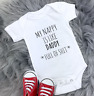 Daddy Baby Vest grow bodysuit Rude Funny Full of Sh*t gift New Dad baby shower