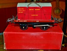 Vintage Boxed Hornby Trains O Low Sided Wagon No. 50; Furniture Container