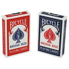 """Lot 2 Bicycle Red & Blue Bridge Playing Cards Narrow 3.5"""" x 2.25"""" Set New"""