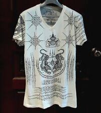 Men T shirt  Buddhism Talisman Powerful Sak yant Yantra Tattoo Size L  Tshirt