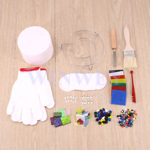 AU 14Pcs Set Kiln Glass Microwave Fusing Kit Stained Art Paper DIY Supplies Tool
