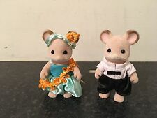 SYLVANIAN FAMILIES MOUSE COUPLE IN BEAUTIFUL EVENING CLOTHES