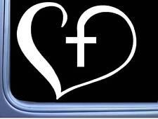 """Kreuz Heartbeat Rettungsleine I200 8 /"""" Breit Aufkleber Christliches Jesus"""