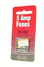 5 AMP FUSES B S 1362 RED & GREY FOUR 4 PACK NEW GENUINE