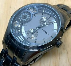 Fossil Twist ME-1012 Mens Analog Quartz Automatic Second Watch Hours~New Battery