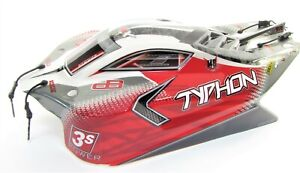 Arrma TYPHON 4x4 3s BLX - Body Shell (painted decaled trimmed Red mega ARA4306V3