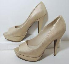 Apt 9 Metallic Gold Peep Toe Platform Heel Womens 10