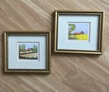 Two Small Framed Prints Of Houses