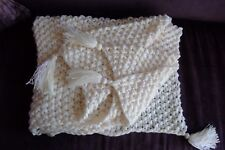 i*believe*in*angels CREAM SNUGGLY CHUNKY PRAM/COT/MOSES BASKET BLANKET BABY/DOLL