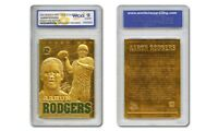 2008 AARON RODGERS SCULPTED NFL GREEN BAY PACKERS 23KT GOLD CARD - GEM-MINT 10