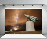 Fire record high rocket Photography Background Photo Studio Props Backdrops