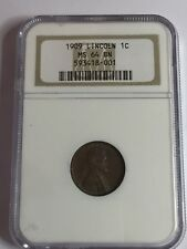 1909 VDB Lincoln Wheat One Cent 1C - MS 64 BN ~