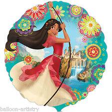"""18"""" Disney's Princess Elena Of Avalor Children's Party Round Foil Balloon"""