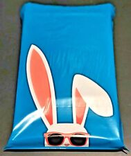 """50 Pack of Cool Shades Easter Bunny 10x13"""" Designer Poly Mailers Clothing Bag"""