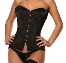 Elegant & Professionally Made Long Satin Corset Ledapol black Small from Poland