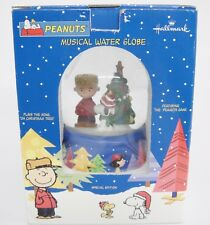 Peanuts Musical Water Snow Globe Plays Oh Christmas Tree Tannenbaum with Box