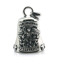 Catholic Saint Patron Archangel St. Michael Stainless Steel Silver Bell Pendant