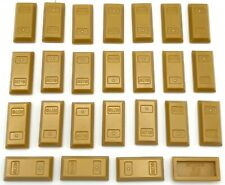 Lego 25 New Pearl Gold Minifigure Utensil Ingot Bar Pieces