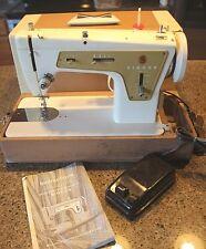 Vintage SINGER 237 ZigZag Sewing Machine + Portable Hardshell Case