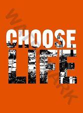 Quote Choose Life Scotland Trainspotting Edinburgh Large Poster Art Print Lf3809