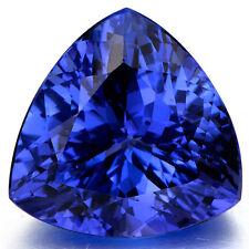 5.38ct UNHEATED 9mm Ceylon VVS Blue Sapphire Trillion Cut AAAA GEMSTONE