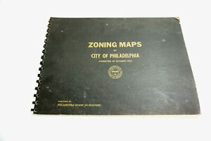 Vintage 1931 / 1962 Zoning Maps for City of Philadelphia book with 37 maps