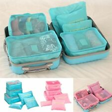6Pc Waterproof Travel Storage Bags Clothes Packing Cube Luggage Organizer Pouch