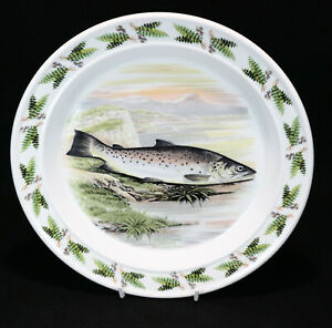 """Portmeirion - The Compleat Angler 1981 - Great Lake Trout - Dinner Plate 10.5"""""""