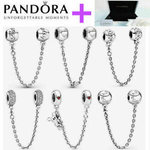 925 Silver Pandora Safety Chain + Gift Box Mother's Day Valentine's Day Gift2021