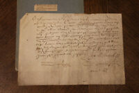 1646 Louis XIV king engineer monney receipt from the king manuscript parchment