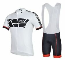 White Cycling Jersey and Pant/Short Set