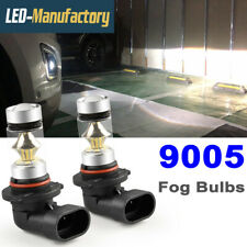 9005 HB3 6000K White LED Fog Driving Light Bulbs Headlight Kit 100W Super Bright