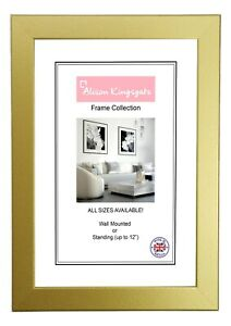 Gold Picture Frames Modern Square Photo Poster Frame A1 A2 A3 A4 A5 A6 6x4 36x24