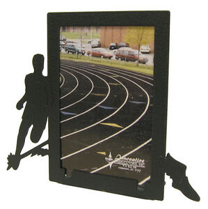 Boys track 3x5V black metal picture frame