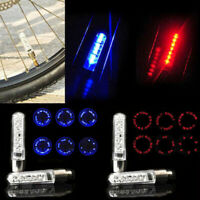 Neonblitz 7 LED Licht Lampe Fahrrad Rad Reifen Speichen Ventilkappe Bunt