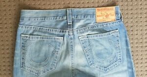 True Religion Mens Made in USA Blue Denim Jeans Size 36 See Pics World Tour