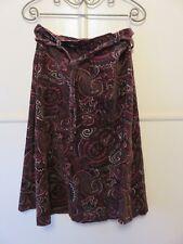 Vintage skirt cotton velveteen