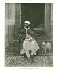 Publicité ancienne un nouveau portrait du négus Ménélik 1908 issue de magazine
